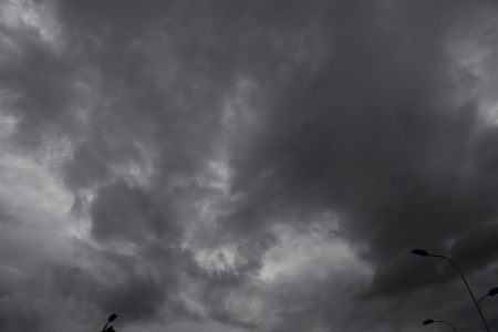 storm background: Background of dark clouds before a thunder-storm
