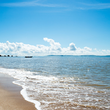 beach and sea in China. daylight relaxation landscape photo