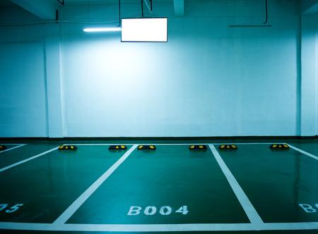 new car lot: Parking lot in an underground garage