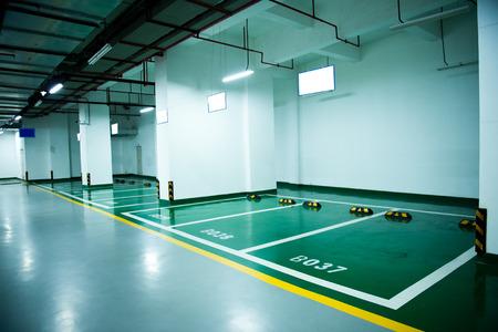 Parkeerplaats in een ondergrondse garage