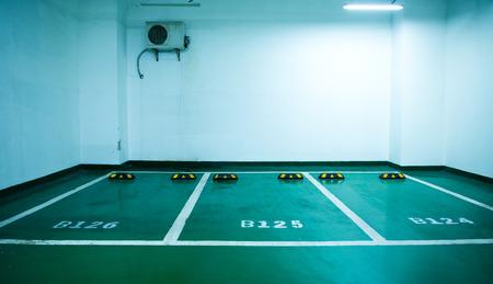parking lot interior: Parking lot in an underground garage