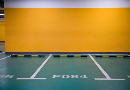 Parking lot in an underground garage