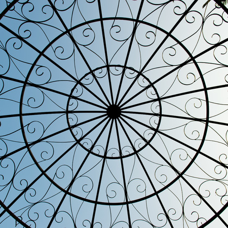 metal round ceiling for background. photo