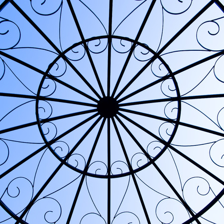 architectural styles: metal round ceiling for background.