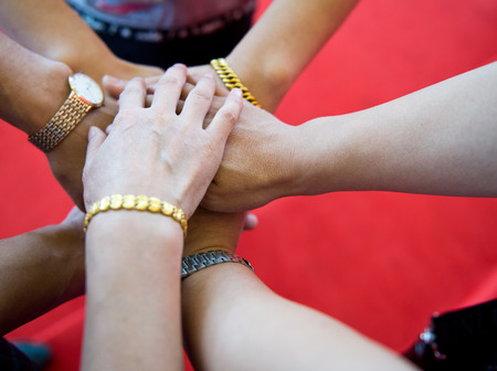 People with their hands together. team work concept Reklamní fotografie