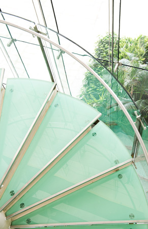 modern glass staircase in a conference center. photo