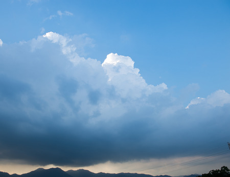 natural  moody: dark clouds before a thunder-storm Stock Photo