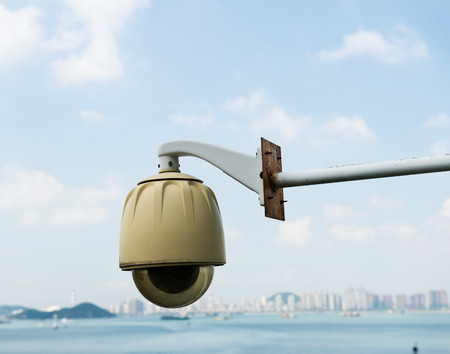 dome type: A security (CCTV) dome type camera.