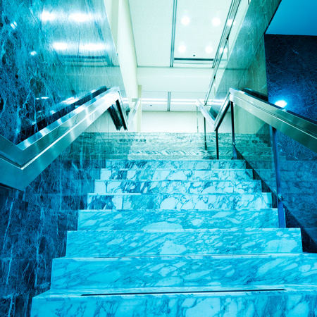 Modern architecture with marble stairs. photo