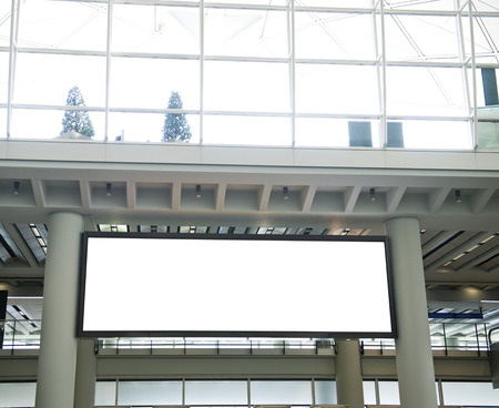 Blank billboard at the airport. photo