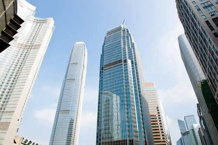 Modern business buildings, shot in hong kong, China.