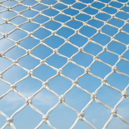 soccer net: Closeup of soccer goal net. Stock Photo