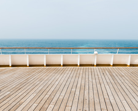 scenary: deck of luxury cruise ship