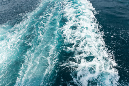 Waves of sea from the speed boat. photo