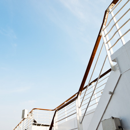 balustrade: A stair to the sky a luxury cruise ship.