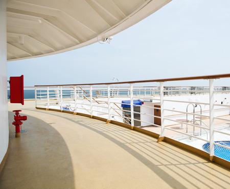ship deck: Promenade deck on a luxury cruise ship