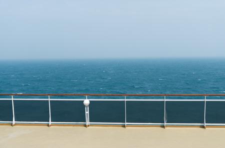 ship deck: deck of luxury cruise ship