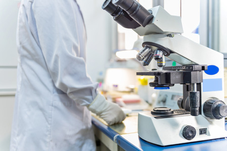 A scientist working at laboratory