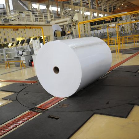 mills: Spools of paper in the workshop