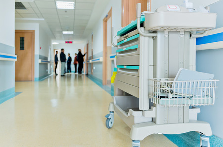 hospital patient: Corridor in the hospital.