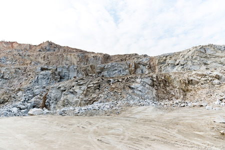 barrenness: Sand hills at China. Stock Photo