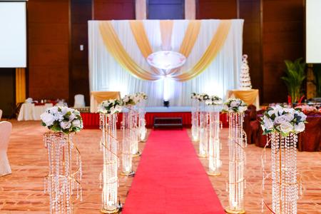 Wedding setting in a restaurant.