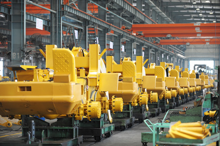 assembly: Machine shop of excavator production.