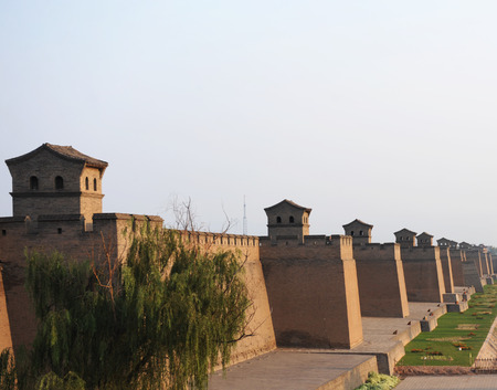 heritage protection: The city wall of Pingyao, china.