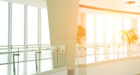 empty corridor in the modern office building.