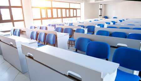 Empty college classroom in university Editorial