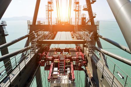 power giant: detail of the port crane. Stock Photo