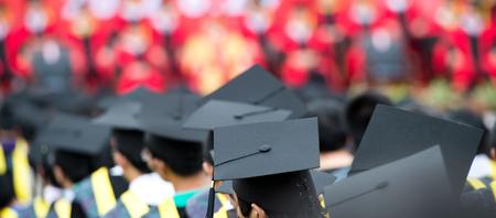 back of graduates during commencement. Banque d'images