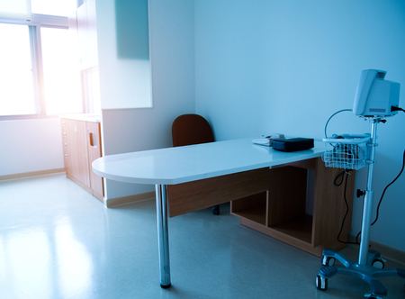 interior of doctors working place in hospital. Editorial