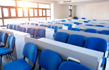Empty college classroom in university Editorial
