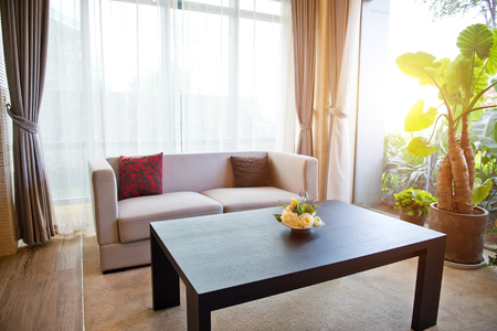 Office room with sofa and table. Editorial