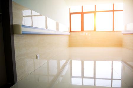 empty corridor in the modern hospital building.