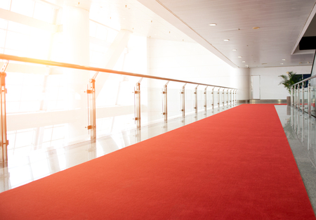 Red carpet way for a celebrity welcome.