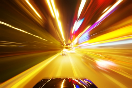 speedy: car on the road with motion blur background