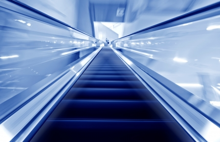 the escalator of the subway station in beijing china   Stock Photo
