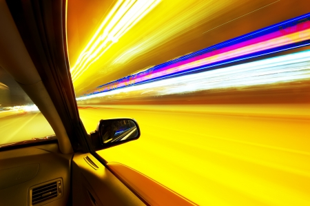 car on the road wiht motion blur background   Stock Photo - 16026832