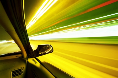 car on the road wiht motion blur background   Stock Photo - 16026835