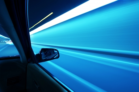 car on the road wiht motion blur background Stock Photo - 16025652