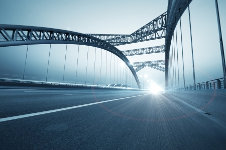 Bridges and urban night in China