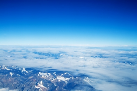 bird eye view: Aerial view of the mountain of the east in China plains