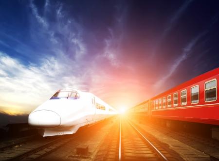Train à grande vitesse Banque d'images - 18651395