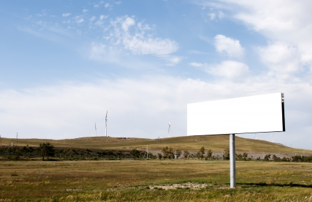 highroad: Commercial blank billboard beside the high-road Stock Photo