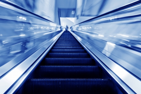 the escalator of the subway station in shanghai china   photo