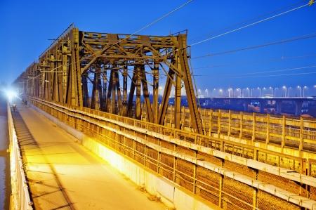 the night of modern bridge Stock Photo - 16975649