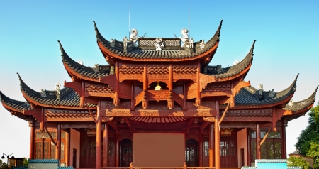 Historic Architecture of China. Forbidden City in Beijing, China  photo