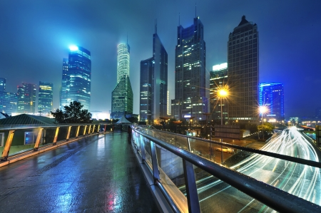 the modern building of the lujiazui financial centre in shanghai china  photo
